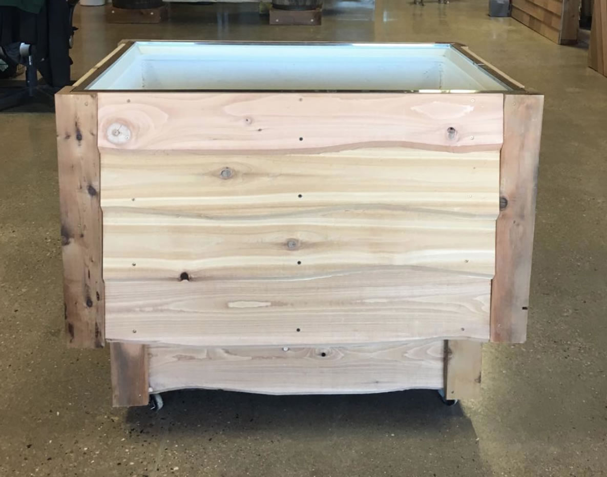 Cedar Party Cooler For Patio