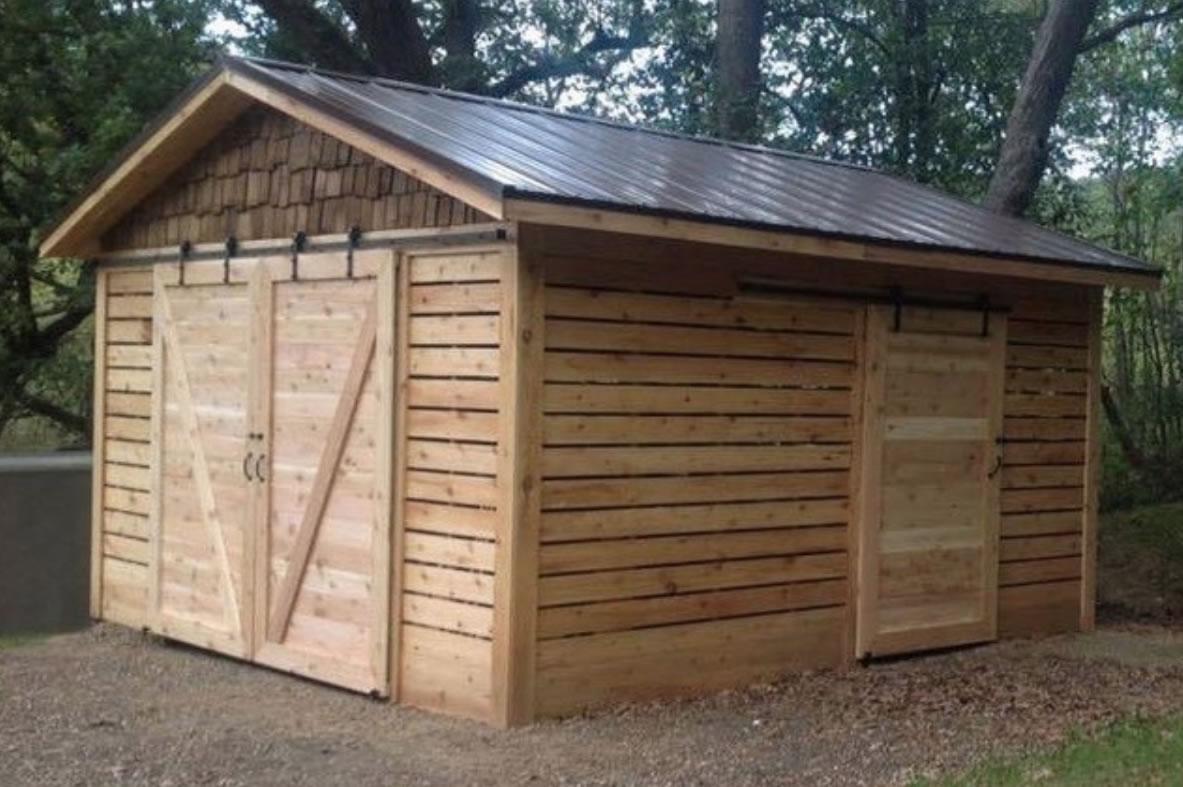 Cedar Shed With Barn Doors Cedar Direct